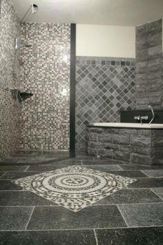 natuurlijke badkamer, mozaïek tegels badkamer - badkamer | pinterest, Badkamer