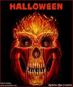 scary Skulls animated | Halloween Skulls 1-
