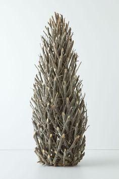 Easy DIY? (get a styrofoam cone as base?) - Tall Twig Tree - Anthropologie.com