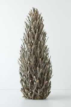 Easy DIY? (get a styrofoam cone as base?) - Tall Twig Tree - Anthropologie.com