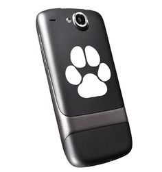 Show your love for all your furry friends with this Tiny Paw Print decal!