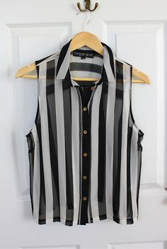 7898768bff39f Striped top from top shop Black White Stripes