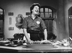 "Top 20 Quotes from Julia Child, my favorite being, ""A party without cake is really just a meeting."""