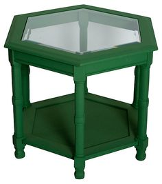 One Kings Lane - Show of Support - Emerald Hexagonal Side Table