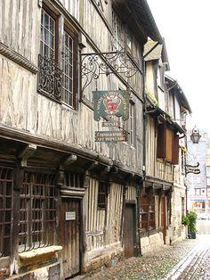 House in Honfleur - Lovely jettied oak framed buildings.