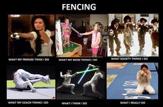 Aye, it's pretty cool being a fencing mom.