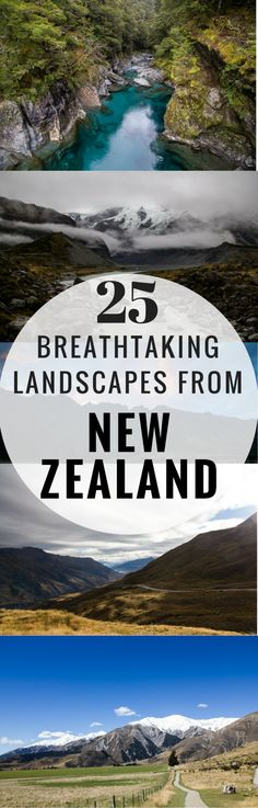 25 Breathtaking Landscapes from New Zealand's South Island   http://borntobealive.blog/welcome/destinations/south-island-new-zealand/