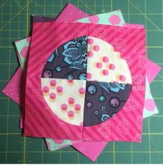 Linda Ashcroft's medium pie block for Tula Pink's Butterfly Quilt