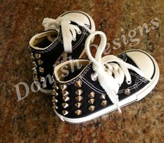Infant /Toddler Studded Converse by DonishDesigns on Etsy