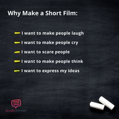 Short Film Ideas - Why Make a Short Film - StudioBinder making, How to Find Short Film Ideas That Will Level-Up Your Career Short Film Scripts, Movie Scripts, Documentary Filmmaking, Filmmaking Quotes, Best Short Films, Film Tips, Film Story, Movie Guide, Film Studies