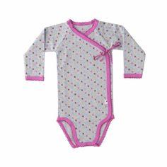 Hollys grå wrap med multikløver i pink og guld. Køb online her. (Størrelse 074)