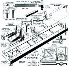 Diy Lathe, Wood Joints, Metal Working, Workshop, Floor Plans, Diagram, Woodworking, Tools, Industrial