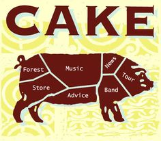 CAKE - Some of my favourite songs are by this group. Have been to see them live too.