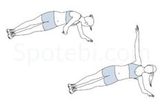 Side plank rotation exercise guide with instructions, demonstration, calories burned and muscles worked. Learn proper form, discover all health benefits and choose a workout. http://www.spotebi.com/exercise-guide/side-plank-rotation/