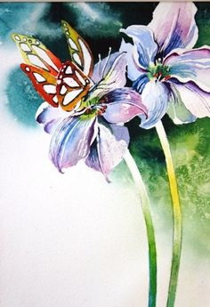 Video Download: Watercolor for Beginners (Episode 01): Butterfly & Blooms with Jan Fabian Wallake | NorthLightShop.com