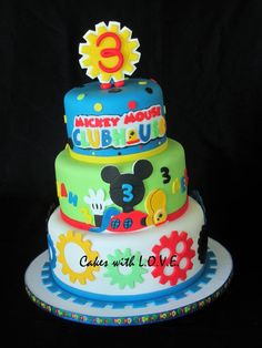 Mickey Mouse Clubhouse Cake - by mycakeswithlove @ CakesDecor.com - cake decorating website