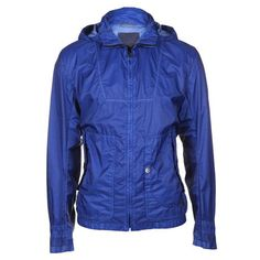 boss orange mens ovide-d hooded blue jacket - lightweight jackets