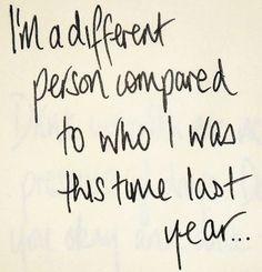 Healthier, stronger, wiser and happier :)