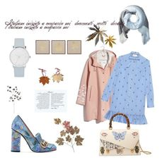 """""""Pastel 🍁🍁"""" by obretin-raluca on Polyvore featuring JLA Home, A.X.N.Y., Gucci, Frontgate, Madewell, A by Amara, Hat Attack, pastel, autumn and leaves"""