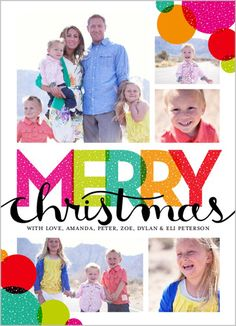Brighten up your family's smiles with these vibrant designs.   Bright Merry Bubbles Christmas Card at Shutterfly.com