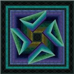 "Stony Creek quilt pattern, free download @ jinnybeyer.com.  Skill level is ""advanced."""