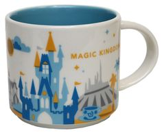 "Starbucks is now selling Disney-themed ""You Are Here"" mugs at locations in two of the  Disney World  theme parks."