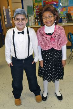 100th day of school...dress up like you are 100 years old!! Love it