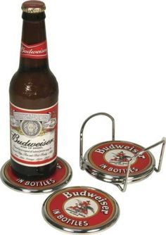Ultimate budweiser gameroom combo 2 bar stools and table budweiser coaster set by rivers edge 1943 full color budweiser in bottles and anheuser watchthetrailerfo
