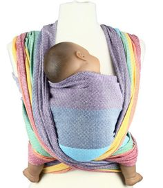 Girasol Woven Wrap Baby Carrier - Light Rainbow Diamond | Caribou Baby