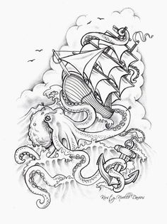 Inspo for my Nautical sleeve