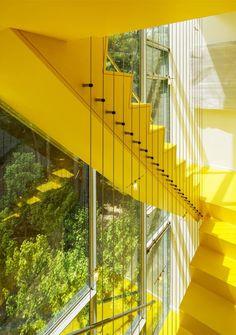 Bright Yellow Stairs