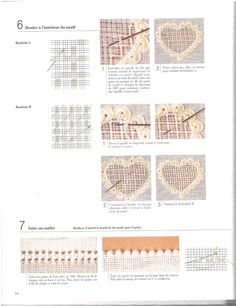 Ideas and tecniques Hardanger Embroidery, Cross Stitch Embroidery, Embroidery Patterns, Drawn Thread, Thread Work, Vbs Crafts, Chicken Scratch, Cut Work, Heirloom Sewing