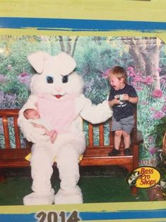 Scared of the Easter Bunny: 11 kids who are having none of it Strangers When We Meet, Scary Photos, Easter Bunny, Children, Kids, Creepy, Hilarious, Santa, In This Moment
