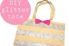 DIY Glitter Tote