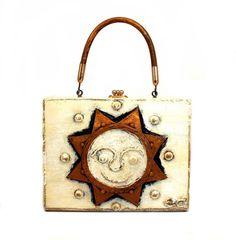 Enid Collins of Texas Untitled (Sol) Papier Mache Box Bag