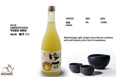 My favorite- Refreshing light, bright citrus flavors of YUZU fruit combine with a hint of sweetness. #sake #日本酒 #柚子 serve at  Shinminori Japanese Restaurant