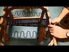 Upholstery Basics: Step by Step Installing Zig Zag Springs - YouTube