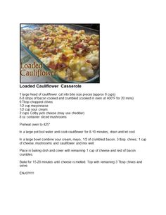 Loaded Cauliflower Casserole.doc