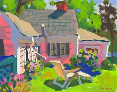 """Charles Sovek, Artist and Author   Exhibition Gallery Archive: """"New Works in Gouache"""""""