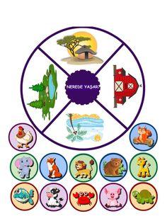 Toddler Learning Activities, Sorting Activities, Vocabulary Activities, Classroom Activities, Preschool Puzzles, Free Preschool, Animal Crafts For Kids, Graduation Diy, Busy Book