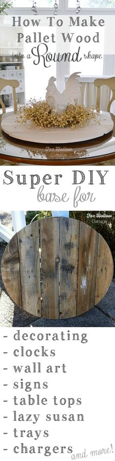 How To Make Pallet Wood Into A Round Circle Shape