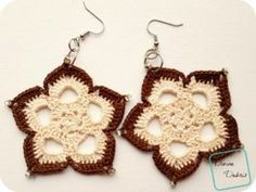 [Free Pattern] Beautiful, Elegant, And Nicely Sized Mini Mandala Earrings You Will Wear Everyday - Knit And Crochet Daily Crochet Earrings Pattern, Crochet Jewelry Patterns, Crochet Mandala Pattern, Crochet Accessories, Crochet Hook Sizes, Thread Crochet, Crochet Crafts, Crochet Projects, Knit Crochet