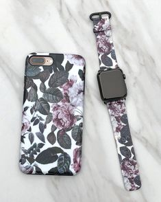 Today's match ⌚️ Shadow Blossom Apple Watch Band and Case for Apple Watch 38mm & 42mm ordinal, series 1, series 2 & series 3. iPhone X, iPhone 8 Plus / 7 Plus & iPhone 8 / 7 from Elemental Cases #shadowblossom #applewatch #elementalcases #iPhoneX #iPhone8