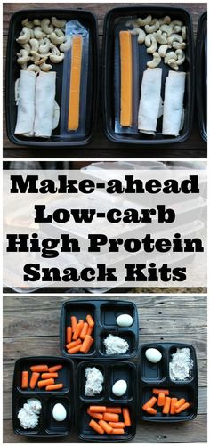 Make-ahead Low-carb high Protein Snack Kits. These are perfect to make on meal prep day so you can enjoy a healthy snack all week.