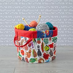 Shop Charley Harper Round Bin.  Part of our exclusive Charley Harper for Nod Collection, this round storage bin features timeless artwork from the iconic wildlife artist.