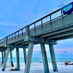 Navarre pier and beach courtesy Navarre Beach Area Chamber of Commerce Navarre Beach, Chamber Of Commerce, Sandy Beaches, Coast, Vacation, Explore, Diy, Vacations, Bricolage