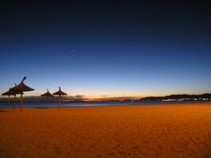 Playa de Palma, Mallorca, at night