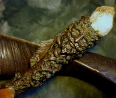 Lord of the Woods - Green man wand for abundance and renewal. £250.00, via Etsy.