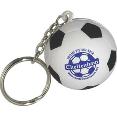 Soccer Ball Stress Reliever Key Chain #Soccer #SoccerBall #StressReliever #PromotionalProduct #Keychain