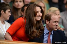 Duchess of Cambridge Kate Middleton wows in red dress at Wimbledon tennis today. Duchess Kate.